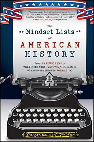 Tom Mcbride The Mindset Lists Of American History From Typewriters To Text Messages What Ten Gener