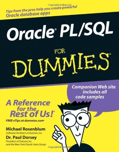Michael Rosenblum Oracle Pl Sql For Dummies
