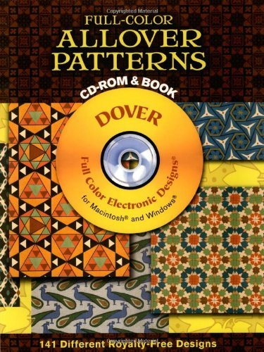 Dover Publications Inc Full Color Allover Patterns CD Rom And Book