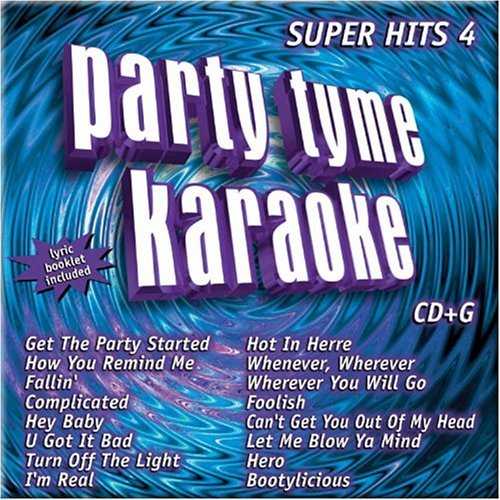 Party Tyme Karaoke Vol. 4 Super Hits Karaoke Incl. Cdg 16 Song