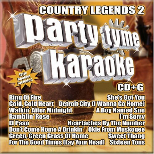 Party Tyme Karaoke Vol. 2 Country Legends Karaoke Incl. Cdg 16 Song