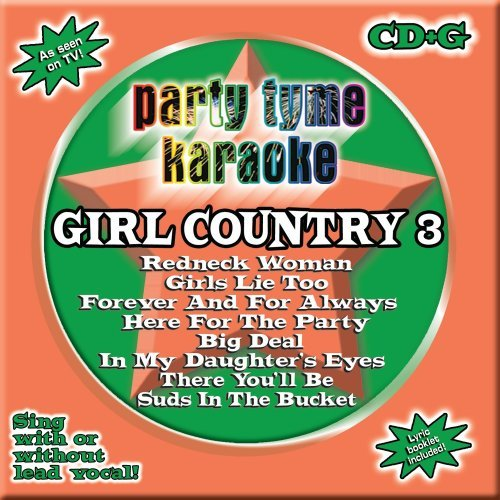 Party Tyme Karaoke Vol. 3 Girl Country Karaoke Incl. Cdg 8+8 Song