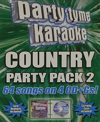 Party Tyme Karaoke Vol. 2 Country Party Pack Karaoke Incl Cdg 4 CD 64 Song