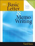 Susan H. Vanhuss Basic Letter & Memo Writing [with Cdrom] 0005 Edition;