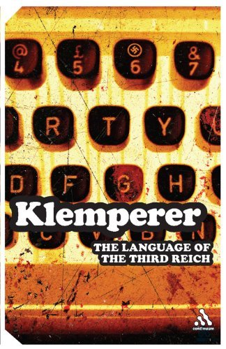 Victor Klemperer Language Of The Third Reich Lti Lingua Tertii Imperii