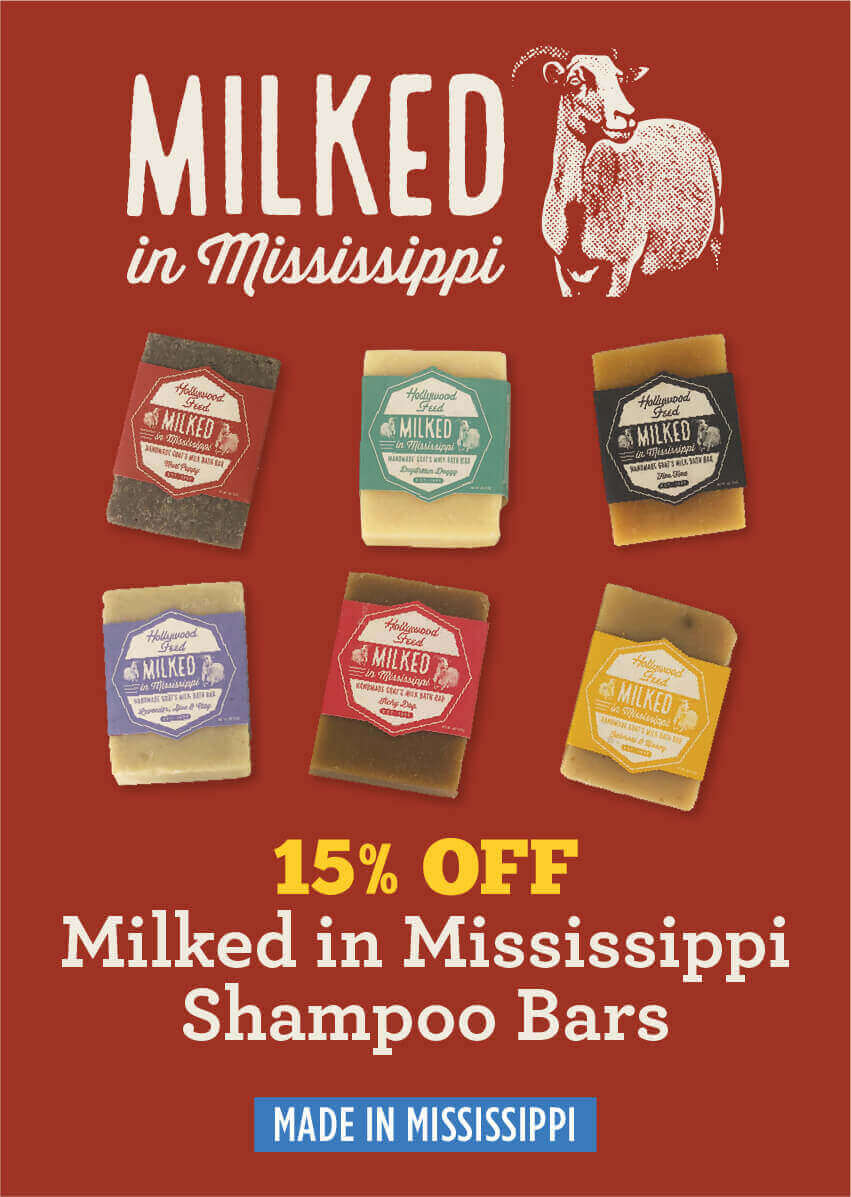 Milked in Mississippi Stamped logo - 15% off Milked in Mississippi Shampoo Bars