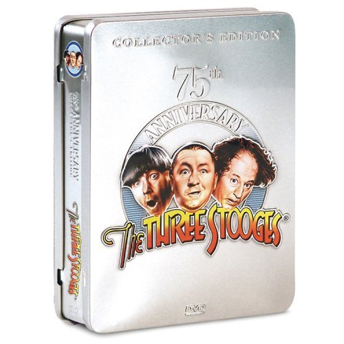 75th Anniversary Collection Three Stooges Clr Bw Collectable Tin Incl. B G 5 DVD