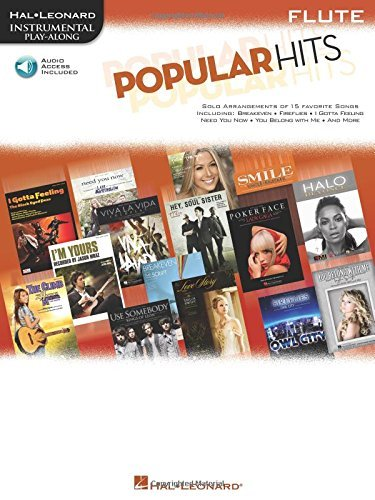 Hal Leonard Corp Popular Hits Instrumental Play Along For Flute
