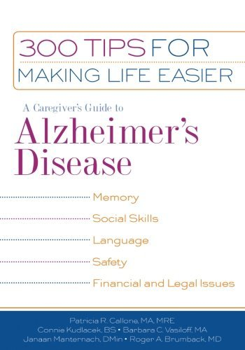 Mre Patricia R. Callone Ma A Caregiver's Guide To Alzheimer's Disease