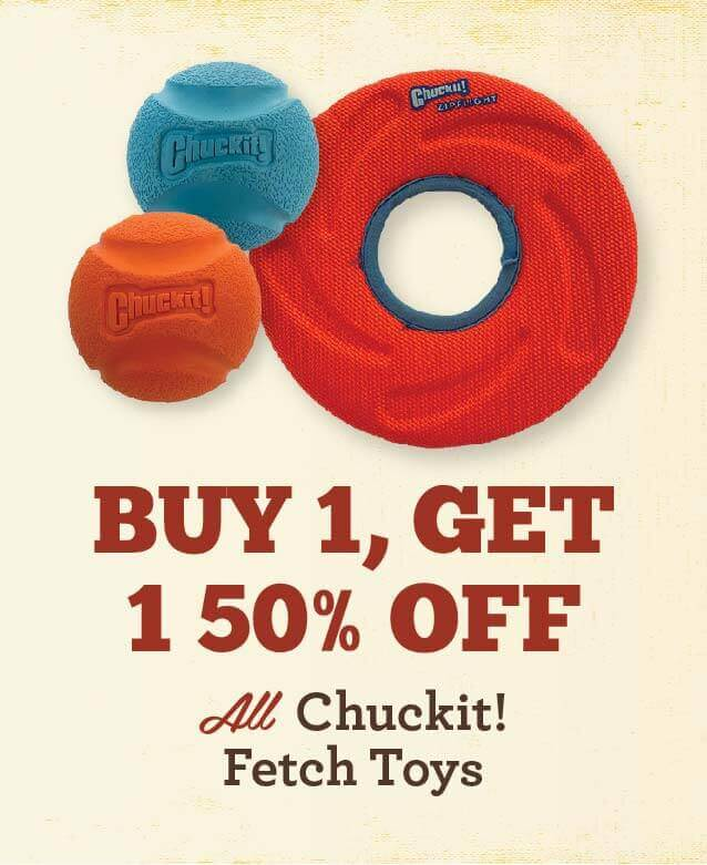 All Chuckit Toys - Buy 1 Get 1 Half Off