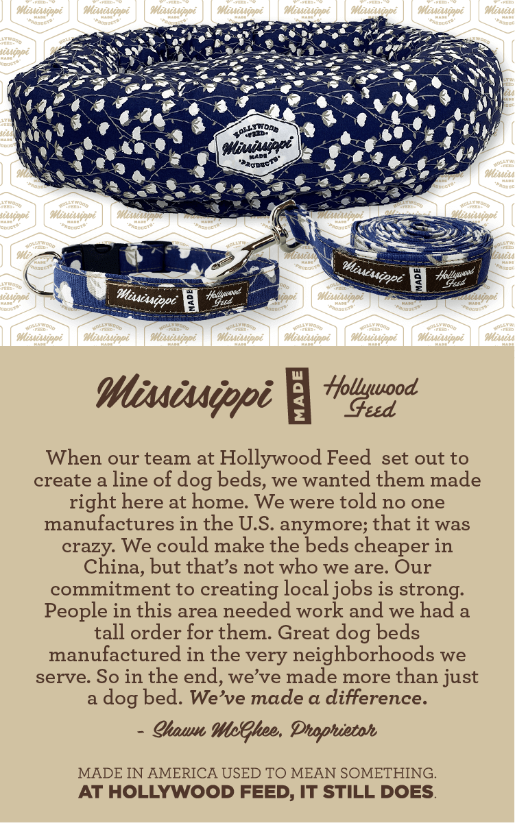 Mississippi Made Bed, Collar and Leash