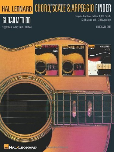 Hal Leonard Corp Guitar Chord Scale & Arpeggio Finder Easy To Use Guide To Over 1 100 Chords 1 300 Sca