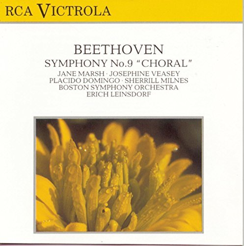 Ludwig Van Beethoven/Symphony No 9@Marsh/Veasay/Domingo/Milnes@Leinsdorf/Boston So