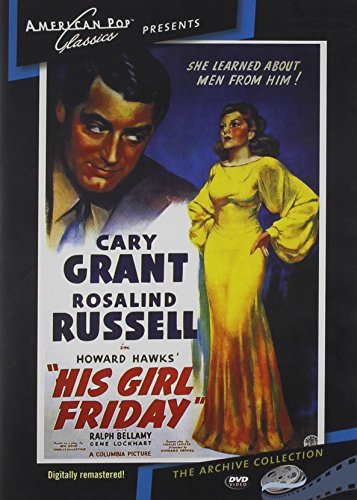 His Girl Friday (1940) Grant Russell DVD Mod This Item Is Made On Demand Could Take 2 3 Weeks For Delivery