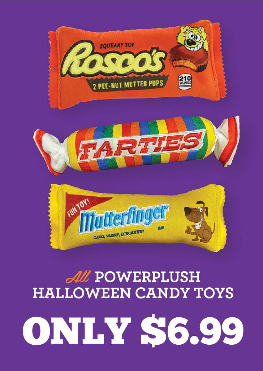 All Powerplush Halloween Candy Toys are only $6.99