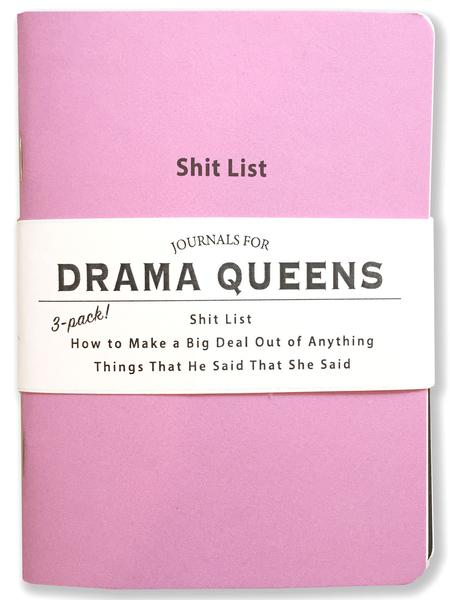 Pocket Journal 3 Pack Drama Queens