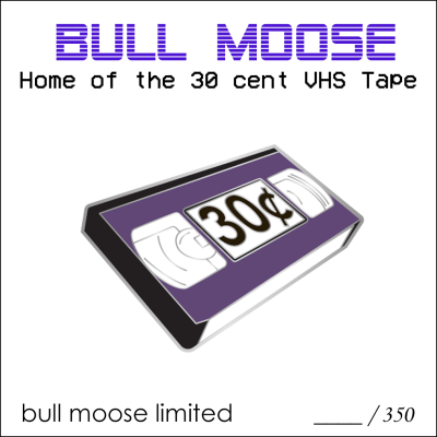 Bull Moose Limited Vhs 30 Cent Enamel Pin