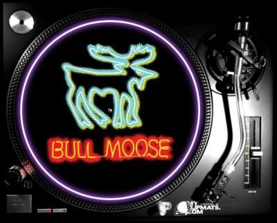 Neon Moose Lp Slipmat Neon Moose Lp Slipmat Bull Moose Limited Bull M