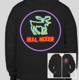 Bull Moose Limited Neon Moose Hoodie Medium