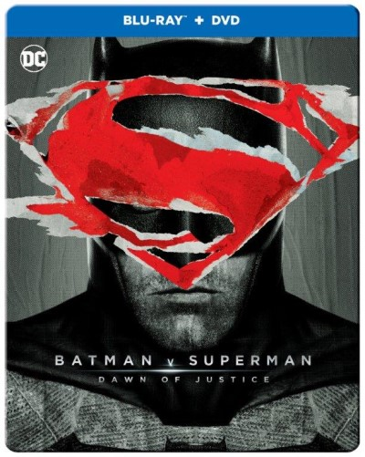Batman V Superman Dawn Of Justice Affleck Cavill Adams Eisenberg Blu Ray Steelbook