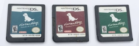 Nintendo Ds 3 Game Lot Cartridge Only Nintendogs Lab Dachshund Chihuahua & Friends Cartridges Only