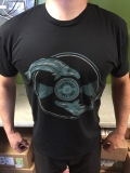 Graywhale T Shirt Whale & Record Black X Large Black X Large