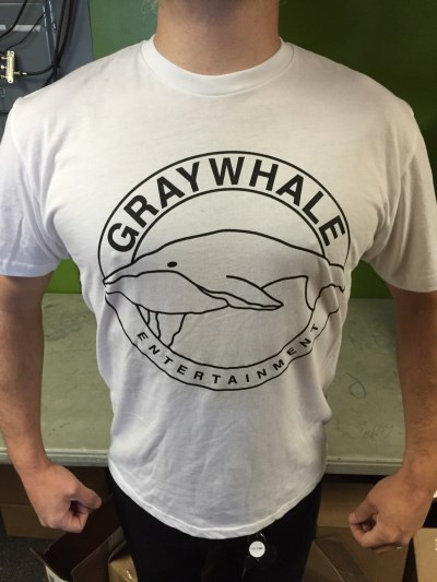 Graywhale T Shirt Circle Logo White Large White Large