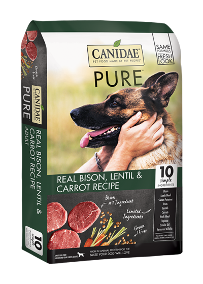 canidae-dog-food-pure-real-bison-lentil-carrot-recipe