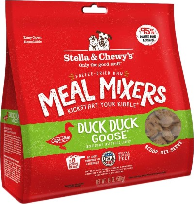 stella-chewys-dog-food-freeze-dried-duck-duck-goose-meal-mixer