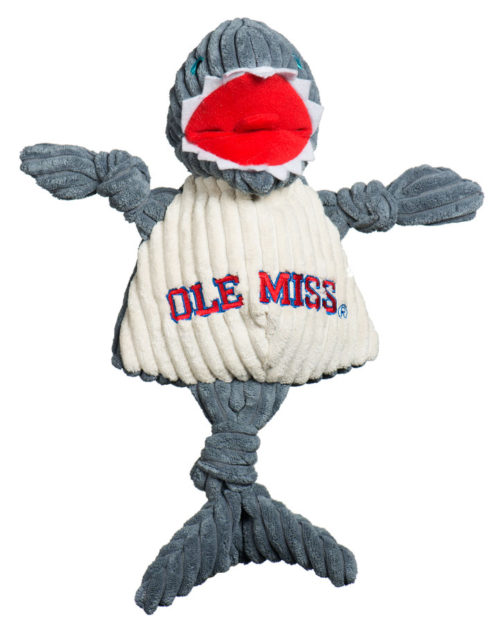 huggle-hounds-dog-toy-college-mascot-knotties-ole-miss-landshark