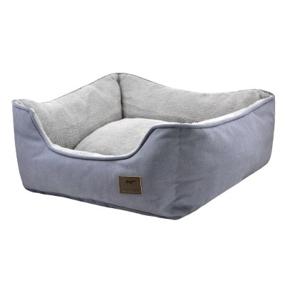 tall-tails-bolster-dog-bed-charcoal