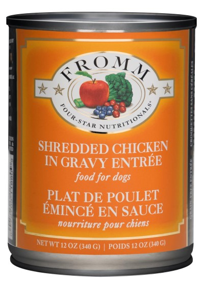 fromm-dog-food-four-star-shredded-chicken-entrée-case-of-12