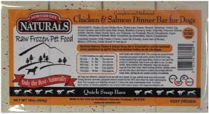 northwest-naturals-frozen-dog-food-chicken-salmon-dinner-bar