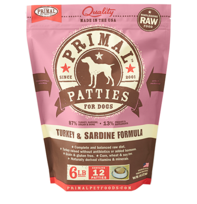 primal-frozen-dog-food-patties-turkey-sardine