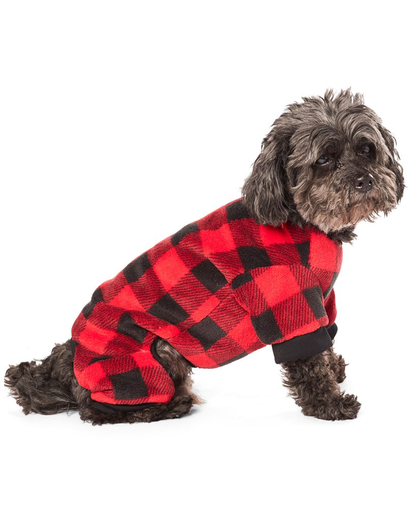 hotel-doggy-plush-buffalo-plaid-pajamas