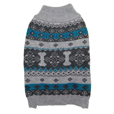 fashion-pet-sweater-nordic-knit-gray