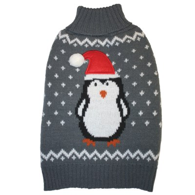 fashion-pet-penguin-sweater-gray