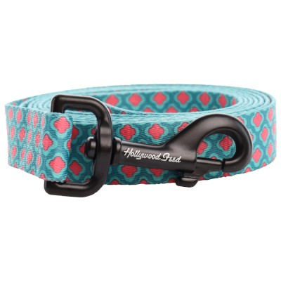 hollywood-feed-dog-leash-teal-pink-petals