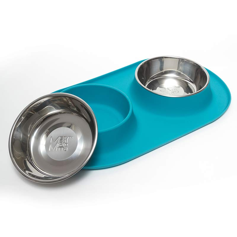 messy-mutts-double-feeder-blue