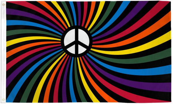 Flag Rainbow Peace Swirl
