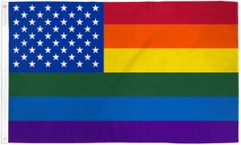 Flag Rainbow Us Stars