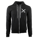 Ritual S Shard Skull Zip Up Hoodie