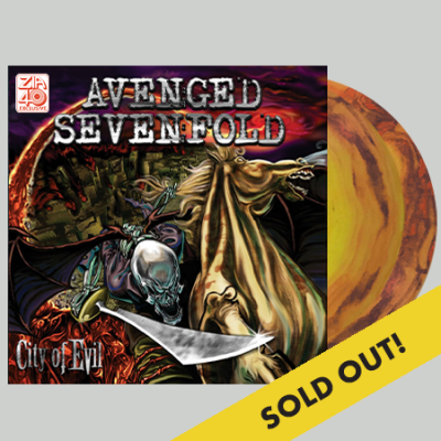 aveged-sevenfold-city-of-evil-15th-anniversary-edition-red-yellow-black-swirl-zia-exclusive-limited-to-500