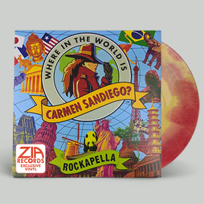 rockapella-where-in-the-world-is-carmen-sandiego-red-yellow-swirl-limited-to-250-zia-records-bull-moose-co-exclusive