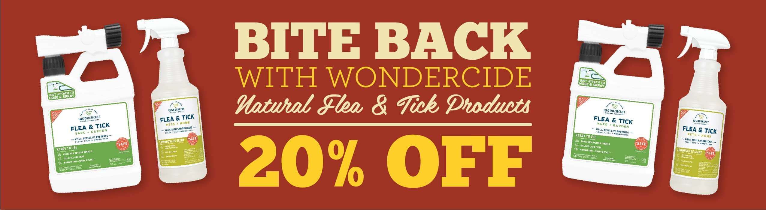 Wondercide Flea and Tick Products - 20% Off