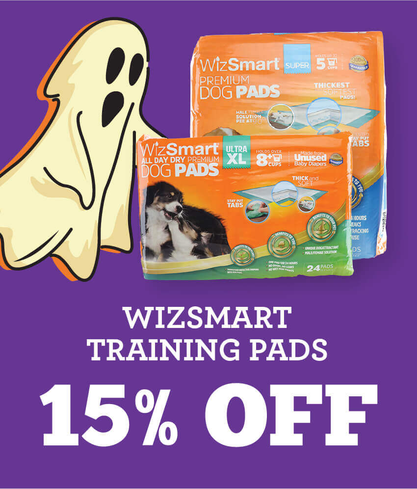 Fifteen percent off Wizsmart Training Pads.