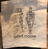 "Bull Moose Limited Tote Bag Bull Moose Classic Roughly 14"" By 14"""