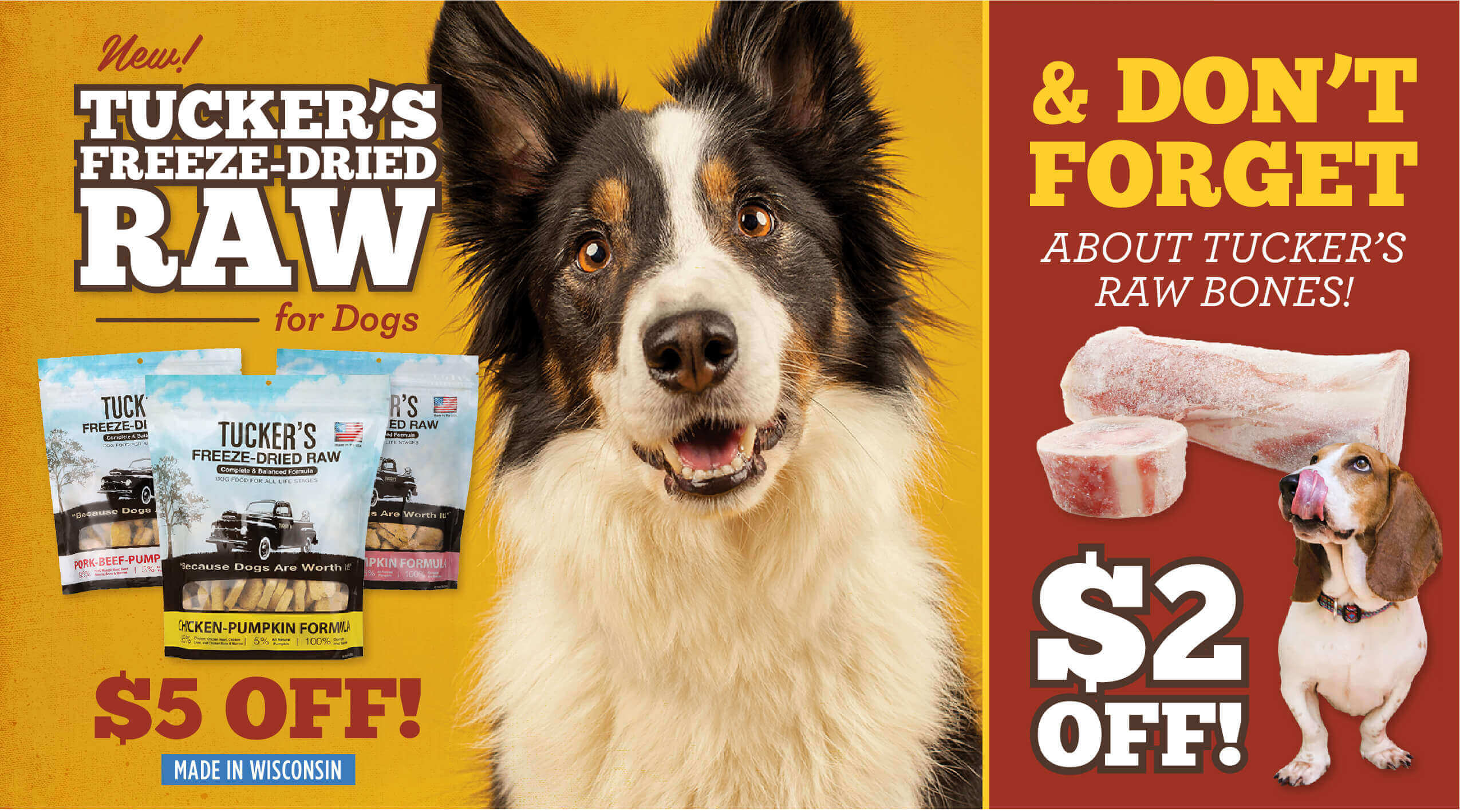 Big Fluffy Dog - Tucker's Freeze-dried Raw 5 dollars off - Made in Wisconsin