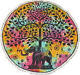 Tapestry Elephant Tree Of Life Circle